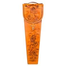 Подарочные шампура в кожаном колчане Капитан