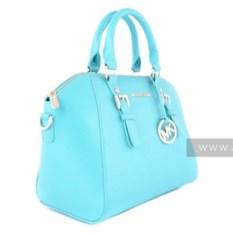 Голубая женская сумка Michael Kors