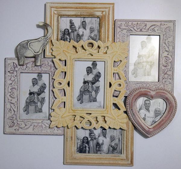 Настенная фоторамка-коллаж на 5 фото Счастливы вместе