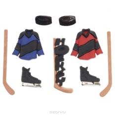 Набор пуговиц и фигурок Dress It Up Хоккей, 9 шт.