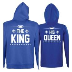 Парные толстовки с капюшоном The king, His queen