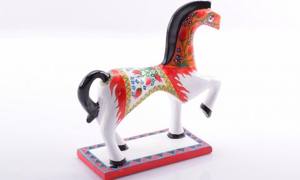 Статуэтка Конь расписной, 20 см