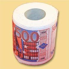 Мини туалетная бумага 500 евро