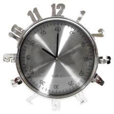 Часы Арабские цифры серебро
