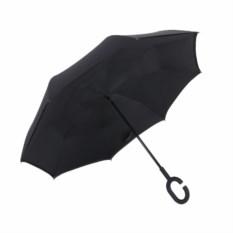 Черный ветрозащитный зонт-наоборот Up Brella