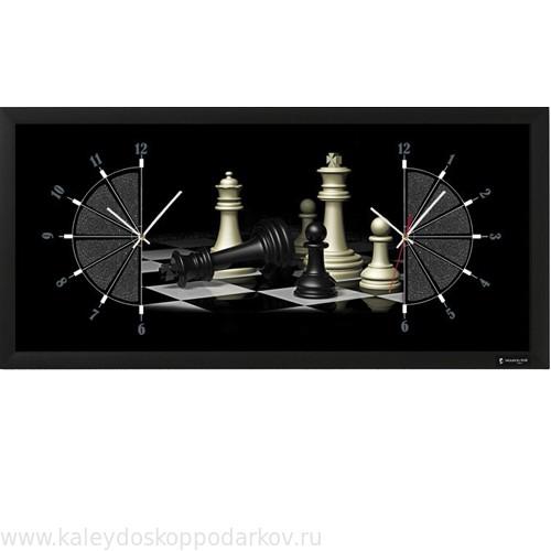 Настенные часы из песка Шахматы