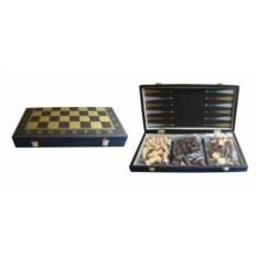Черный набор настольных игр шахматы, нарды, шашки