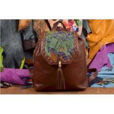 Женский рюкзак с принтом Ирисы. Ван Гог