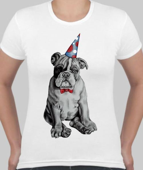 Футболка Собака с клонуским колпачком