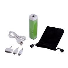 Универсальный аккумулятор Bar, 2200 mAh, зеленый