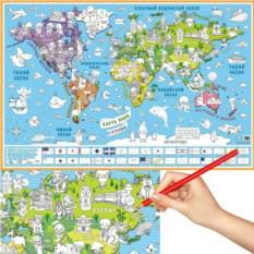 Карта-раскраска «Страны»