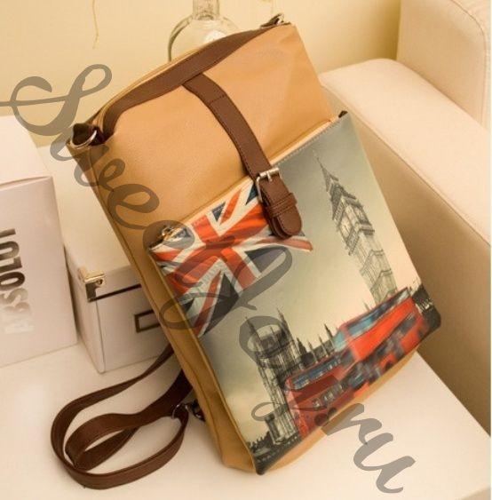 Сумка-рюкзак Три в одном London Smile Way - Beige