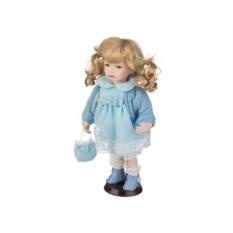 Фарфоровая кукла с мягконабивным туловищем, высота 30 см