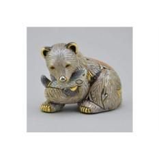 Керамическая статуэтка Медведь гризли