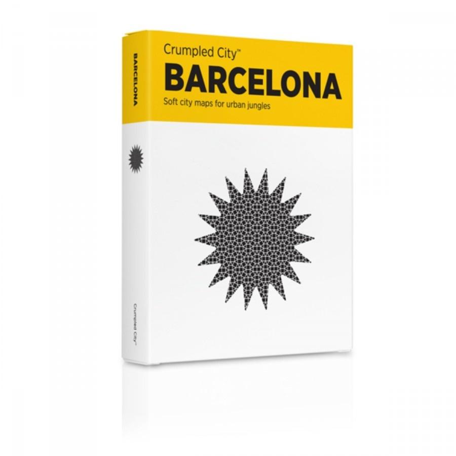 Мятая карта Барселона (Barcelona)