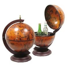 Насольный глобус-бар, диаметр сферы 33 см
