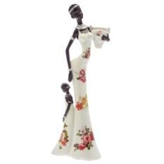 Декоративная фигурка Африканка с ребёнком высотой 31,7 см