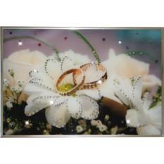Картина с кристаллами Сваровски Обручальное кольцо