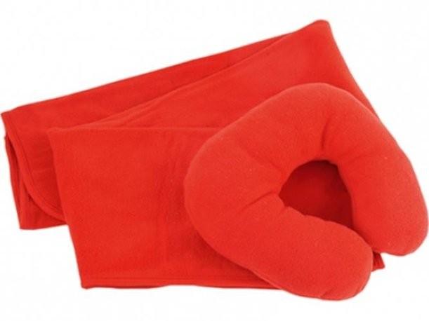 Набор для путешествий с комфортом из пледа и подушки в чехле
