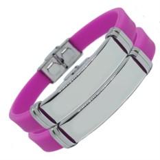 Фиолетовые парные браслеты для двоих