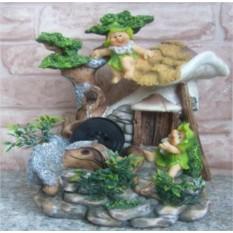 Фонтан с помпой Лесной гномик и домик
