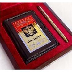Набор «Обложка на паспорт и ручка»