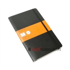 Черная записная книжка в линейку Classic Soft, Large