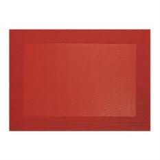 Красная салфетка с плетеными краями Table tops Asa Selection
