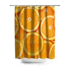 3D-штора для ванной Апельсинчик