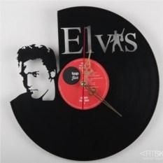 Часы из виниловой пластинки Элвис