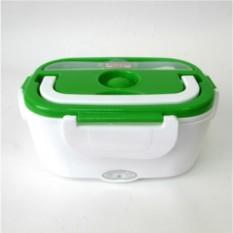 Зеленый электрический ланч-бокс с подогревом