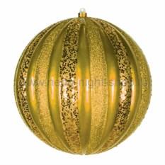 Елочная игрушка Арбуз золотого цвета