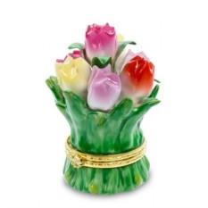 Фарфоровая шкатулка для украшений Цветы от Pavone