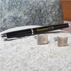 Набор: ручка Parker и запонки с гравировкой Гранд