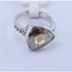 Кольцо с покрытием белое золото Бермудский треугольник