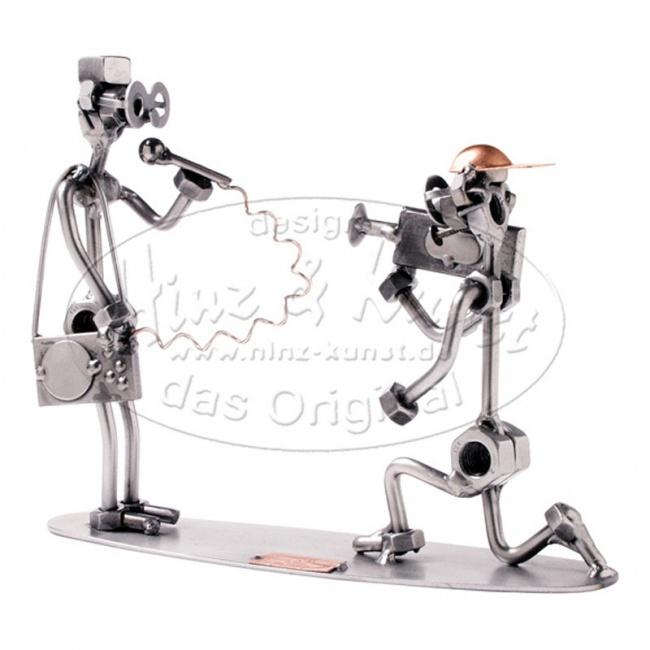 Металлическая статуэтка Репортер, HINZ&KUNST