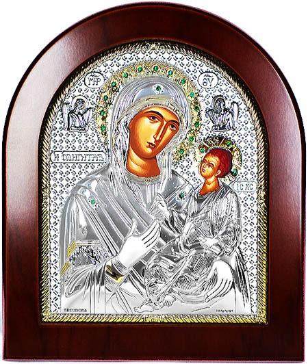 Смоленская икона Божьей Матери Одигитрия, серебро