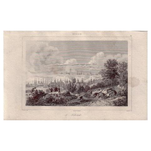 Гравюра «Панорама Тобольска»