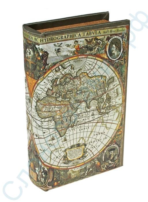 Шкатулка в виде книги Карта первооткрывателей