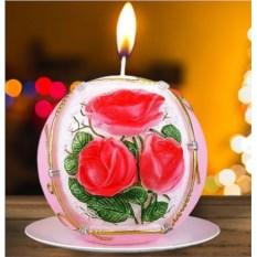 Новогодняя свеча «Букет роз»