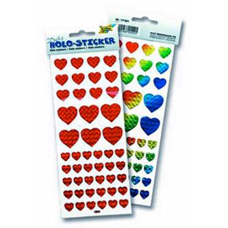 Голографические стикеры «Сердце»