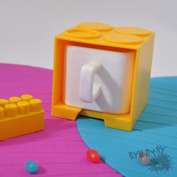Кружка LEGO (желтая)