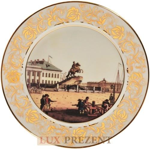Декоративная тарелка Памятник Петру-1