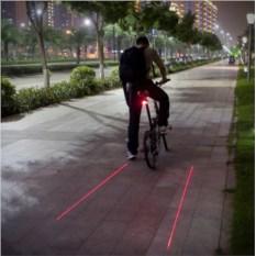 Задний лазерный велосипедный фонарь