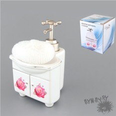 Диспенсер для мыла с губкой Раковина с цветами