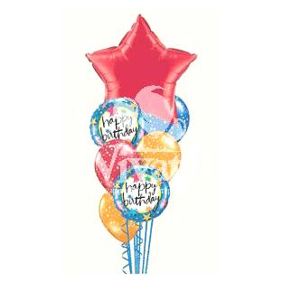 Букет «С Днем Рождения - Звезда»