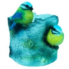 Кашпо Пень с птичками