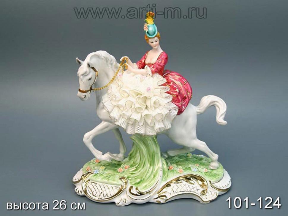 Статуэтка Наездница в розовом Hangzhou Jinding