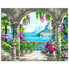 Картина-раскраска по номерам на холсте Яркое лето