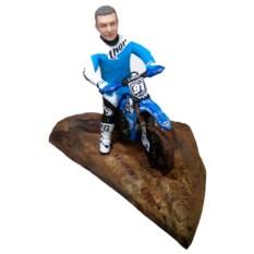 Статуэтка мотоциклиста по фото Мотокросс